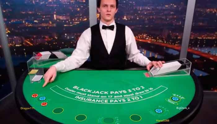 Jogar Blackjack ao Vivo de graça